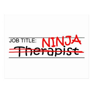 Job Title Ninja - Therapist Postcard