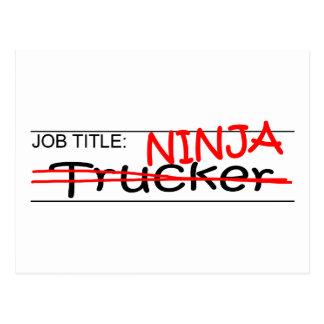 Job Title Ninja - Trucker Postcard