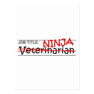 Job Title Ninja - Vet Postcard
