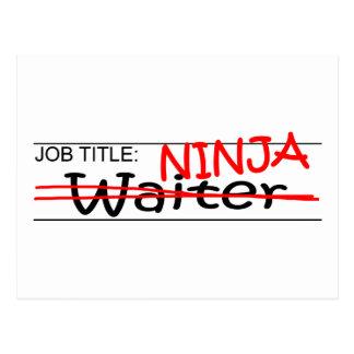 Job Title Ninja - Waiter Postcard