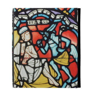 Job tormented by the Devil, 12th century (stained iPad Cases