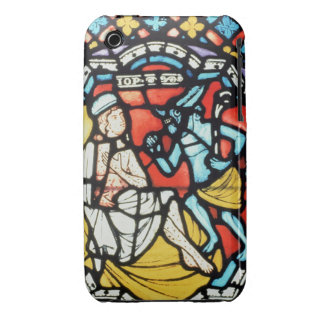 Job tormented by the Devil, 12th century (stained iPhone 3 Case