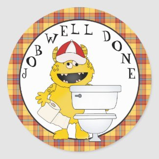 Job Well Done Potty Training Sticker