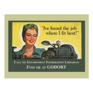 Job Where I Fit Best Post Card
