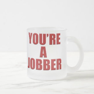 Jobber4 Frosted Glass Coffee Mug