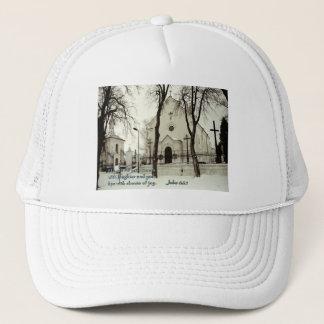 Jobs 8:21 Polish Church Trucker Hat