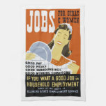 Jobs for Girls and Women dish towel