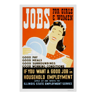 Jobs For Girls Women 1936 WPA Posters