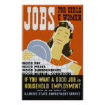 Jobs for Girls & Women Poster