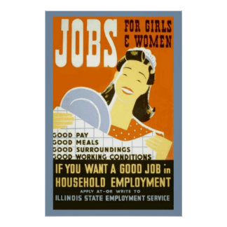 jobs For Girls & Women Poster