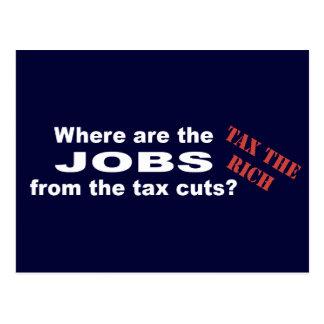 Jobs from tax cuts? postcard