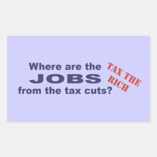 Jobs from tax cuts? sticker