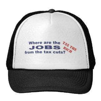 Jobs from tax cuts? trucker hat
