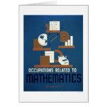 Jobs In Mathematics 1937 WPA Greeting Card