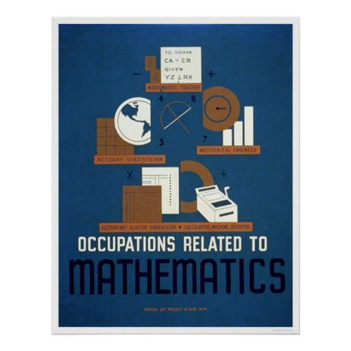 Jobs In Mathematics 1937 WPA Poster