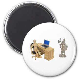 JobSecurity112409 2 Inch Round Magnet