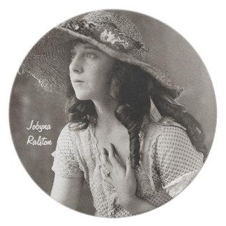 Jobyna Ralston-Early Movie Star Party Plates