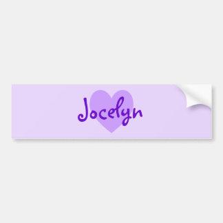Jocelyn in Purple Car Bumper Sticker