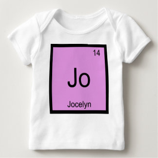 Jocelyn  Name Chemistry Element Periodic Table Baby T-Shirt