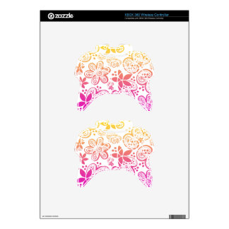jocelyn's flowers in pink and yellow xbox 360 controller skin