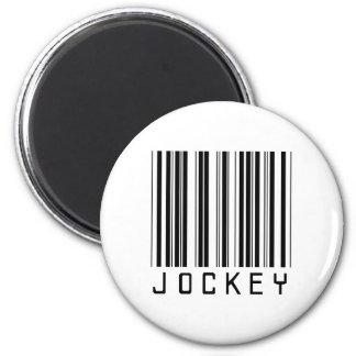 Jockey Bar Code 2 Inch Round Magnet