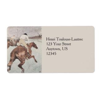 Jockey by Henri de Toulouse-Lautrec Label