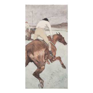 Jockey by Henri de Toulouse-Lautrec Personalized Photo Card