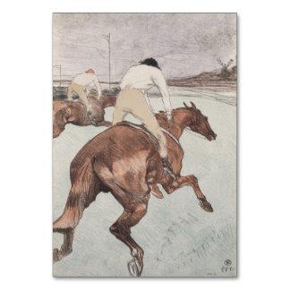 Jockey by Henri de Toulouse-Lautrec Table Card
