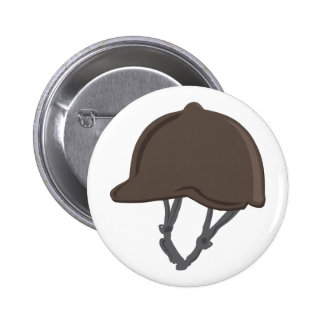 Jockey Helmet Pinback Button
