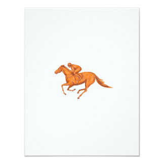 Jockey Horse Racing Drawing Card