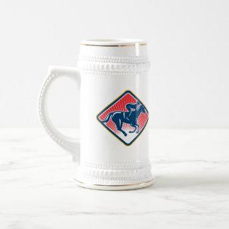 Jockey Horse Racing Side Retro Mug