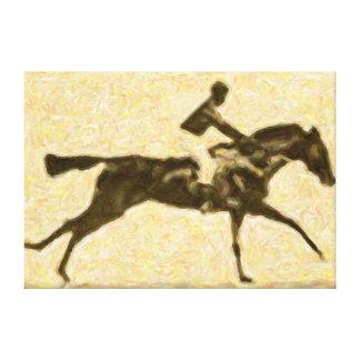 Jockey in race canvas print