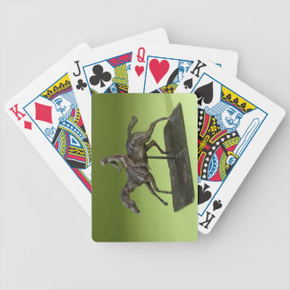 Jockey on a Horse (bronze) Bicycle Playing Cards