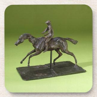 Jockey on a Horse (bronze) Drink Coaster