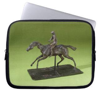 Jockey on a Horse (bronze) Laptop Sleeve