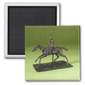 Jockey on a Horse (bronze) Magnet