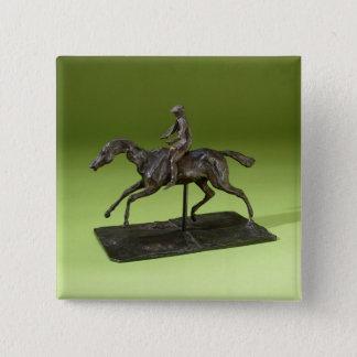 Jockey on a Horse (bronze) Pinback Button