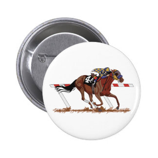 Jockey on Racehorse 2 Inch Round Button
