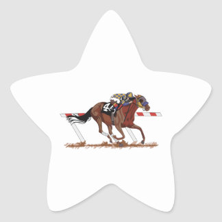 Jockey on Racehorse Star Sticker