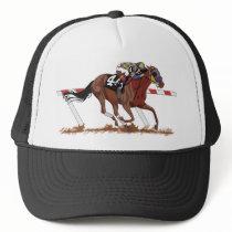 Jockey On Racehorse Trucker Hat