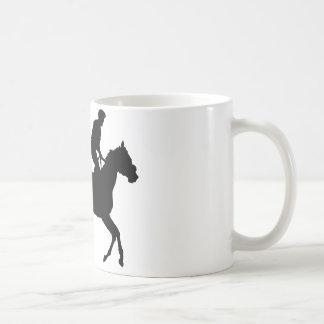 Jockey Silhouette Coffee Mug