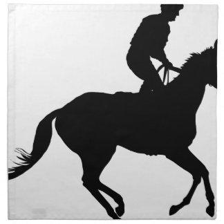 Jockey Silhouette Napkin