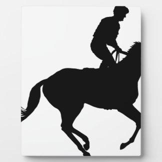 Jockey Silhouette Plaque