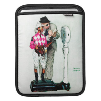 Jockey Weighing In by Norman Rockwell Sleeve For iPads