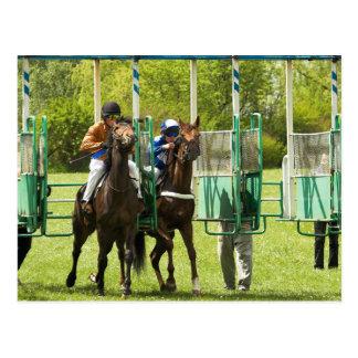Jockeys at the Starting Gate Postcard
