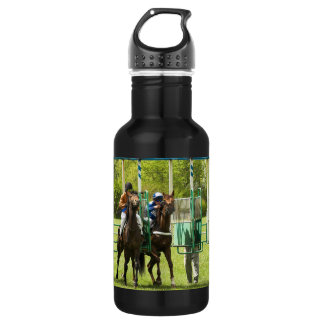 Jockeys at the Starting Gate Stainless Steel Water Bottle