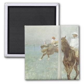 Jockeys Before the Race by Edgar Degas 2 Inch Square Magnet
