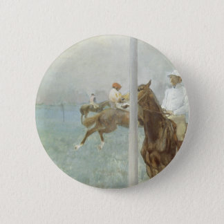 Jockeys Before the Race by Edgar Degas Button