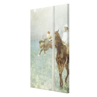 Jockeys Before the Race by Edgar Degas Canvas Print