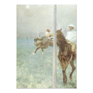 Jockeys Before the Race by Edgar Degas Card